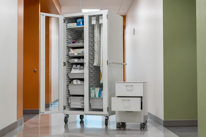 procedure cabinet and utility cart
