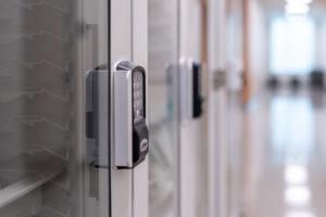 keypad on locking cabinet